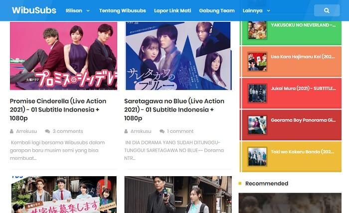 Situs download drama Jepang wibusubs