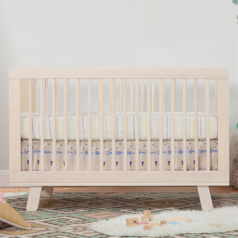 Babyletto Hudson 3in1 Convertible Crib in Washed Natural