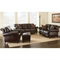 Steve Silver Company Chateau 4 Piece Leather Sofa Set in ...
