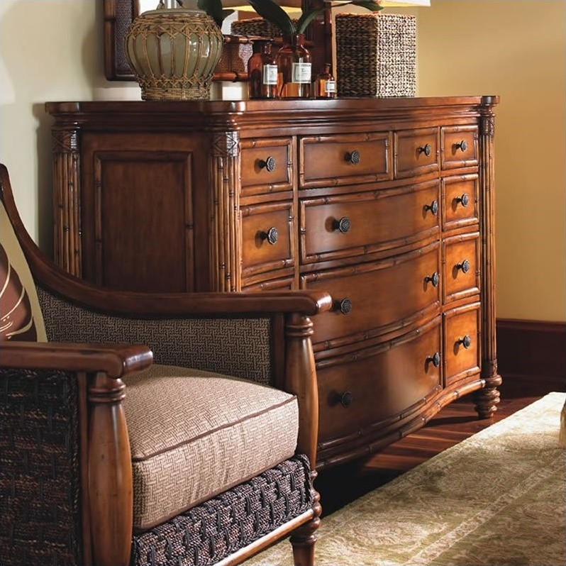 Tommy Bahama Home Island Estate West Indies Wood Poster Canopy Bed 3 Piece Bedroom Set  010531
