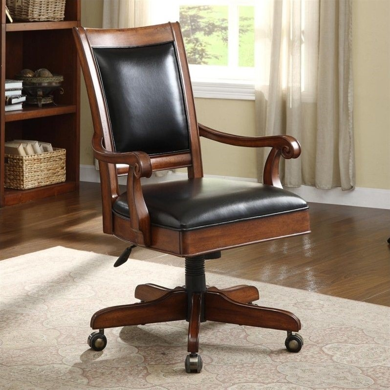Riverside Furniture Cantata Desk Office Chair In Burnished Cherry 4925