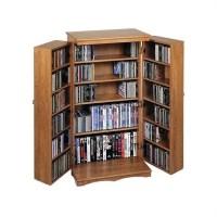 """40"""" CD DVD Media Storage Cabinet in Dark Oak - CD-612D"""