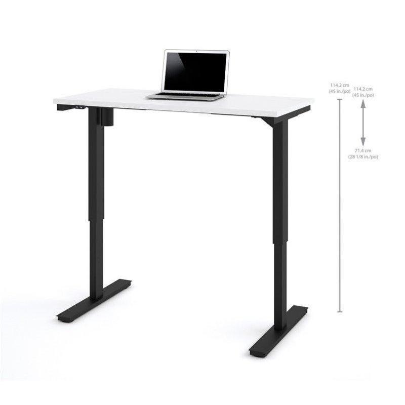 Bestar 24 x 48 Power Adjustable Standing Desk in White