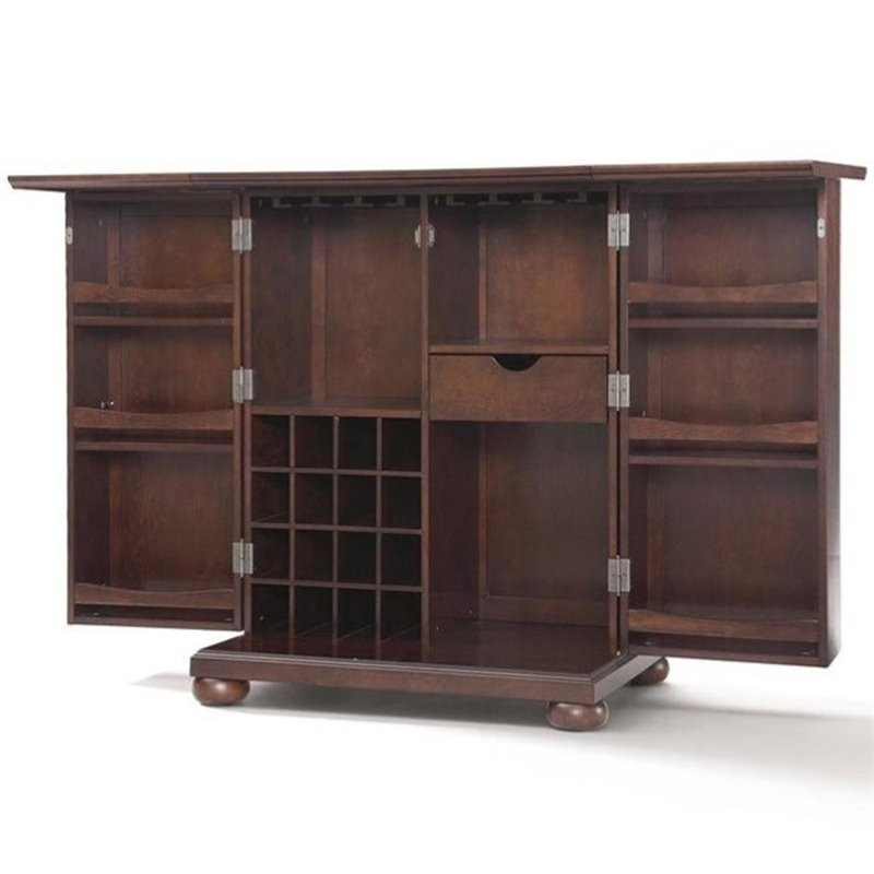Crosley Furniture Alexandria Expandable Home Bar Cabinet