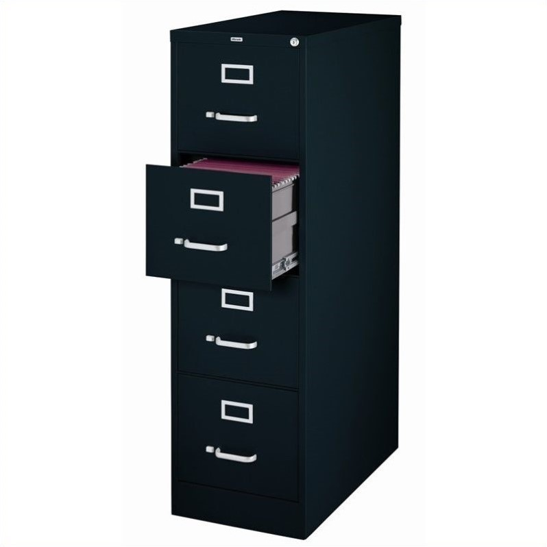 4 Drawer Letter File Cabinet in Black  17892