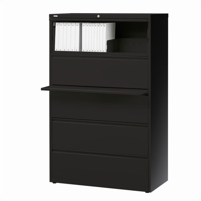 5 Drawer Lateral File Cabinet in Black  14992