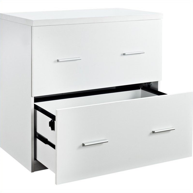 2 Drawer Lateral File Cabinet in White  9532196
