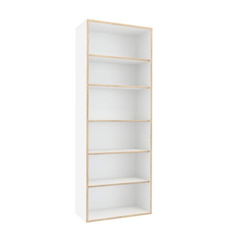 6 Shelf Bookcase In White And Oak Structure 8019449ak