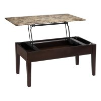 Faux Marble Lift Top Coffee Table in Espresso - WM4057