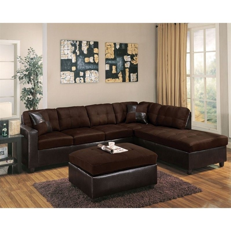 acme sectional sofa chocolate marks spencer review furniture milano faux leather 2 piece ...