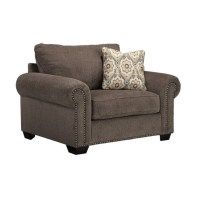 Ashley Emelen Chenille Oversized Accent Chair with Ottoman ...