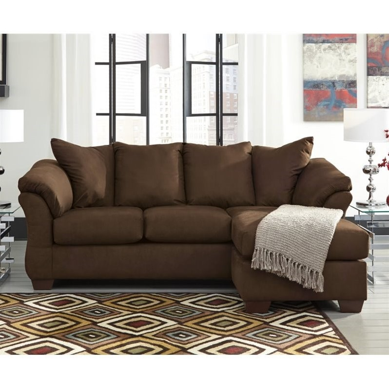 ashley furniture darcy sofa reviews comfortable bed singapore fabric chaise in cafe - 7500418