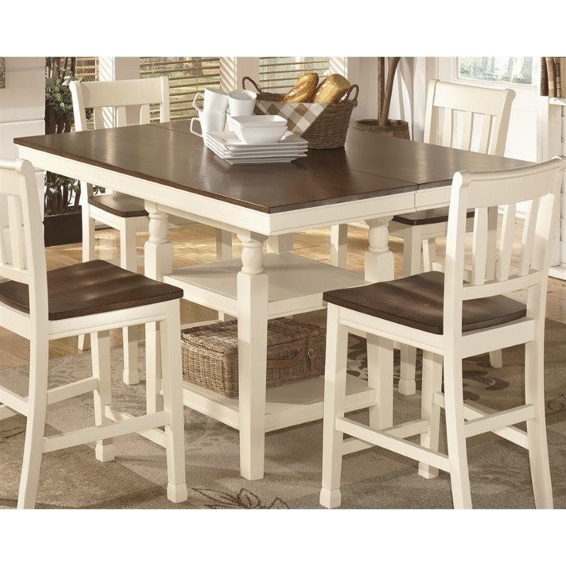 Ashley Whitesburg Extendable Counter Height Dining Table