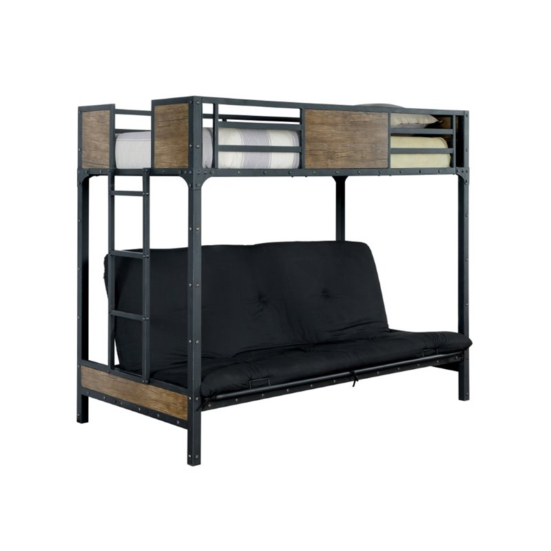 Furniture Of America Baron Twin Loft Bed In Black IDF