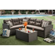 Furniture Of America Callen Patio Faux Rattan Sectional