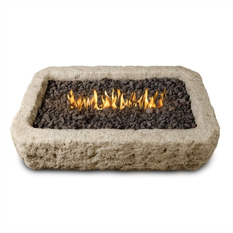 propane fire pit sets with chairs pb desk real flame antique stone rectangular - 568lp-ans