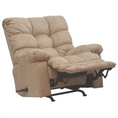 Grey Oversized Chair With Ottoman Coolest Desk Chairs Catnapper Magnum Chaise Rocker Recliner In Hazelnut - 546892222036