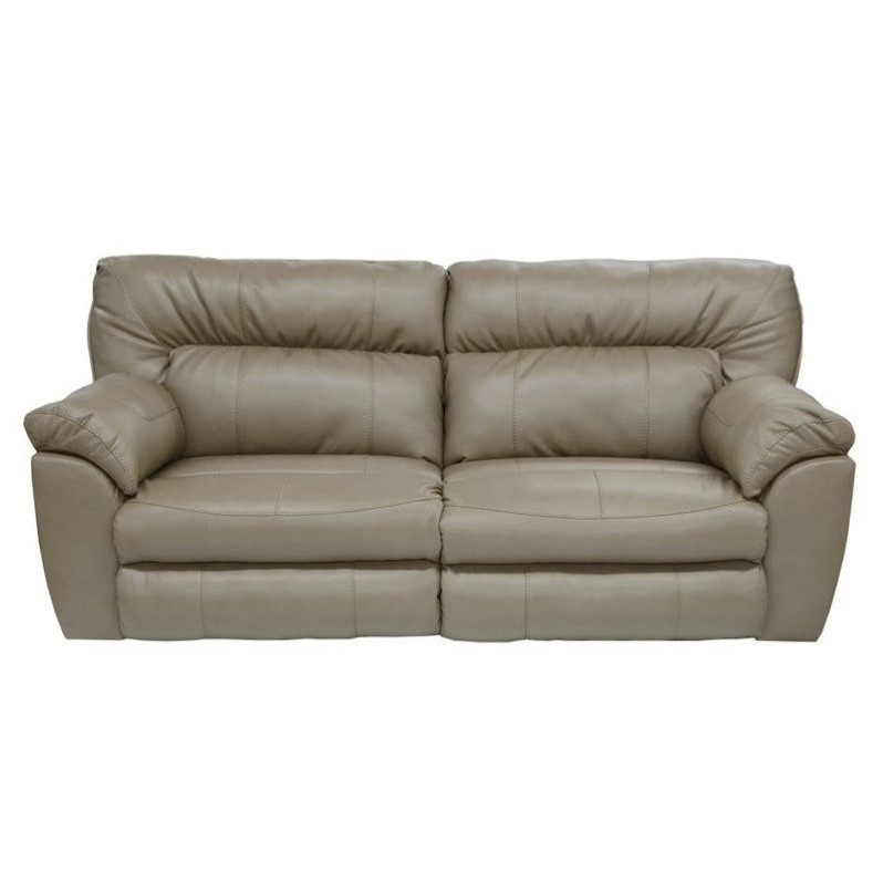 catnapper reclining sofa nolan 2 piece sectional with chaise leather in putty ...
