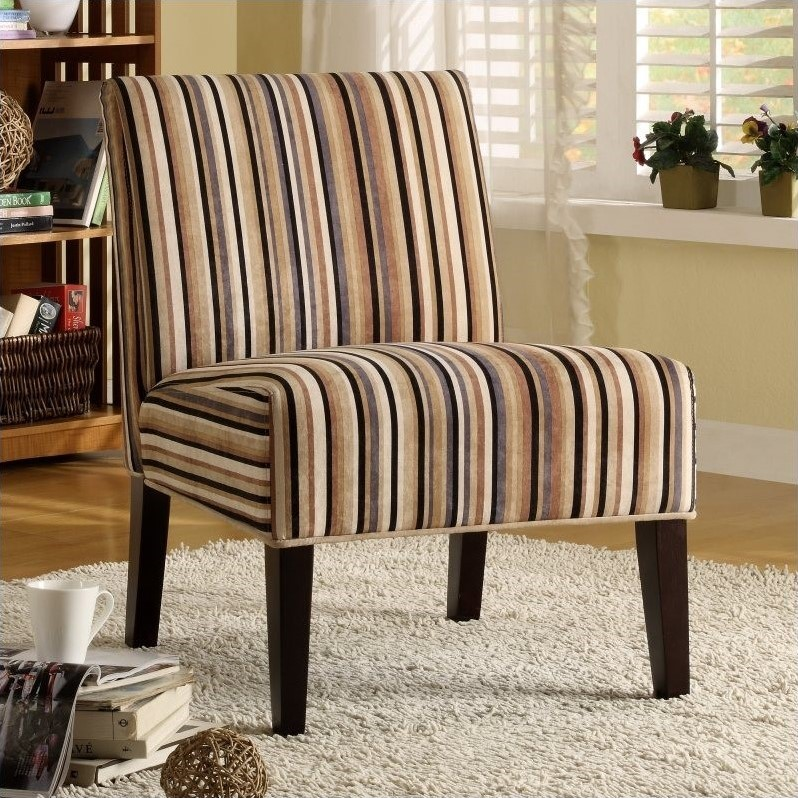 Decorating your living room properly will. Trent Home Lifestyle Fabric Accent Slipper Chair in Multi ...