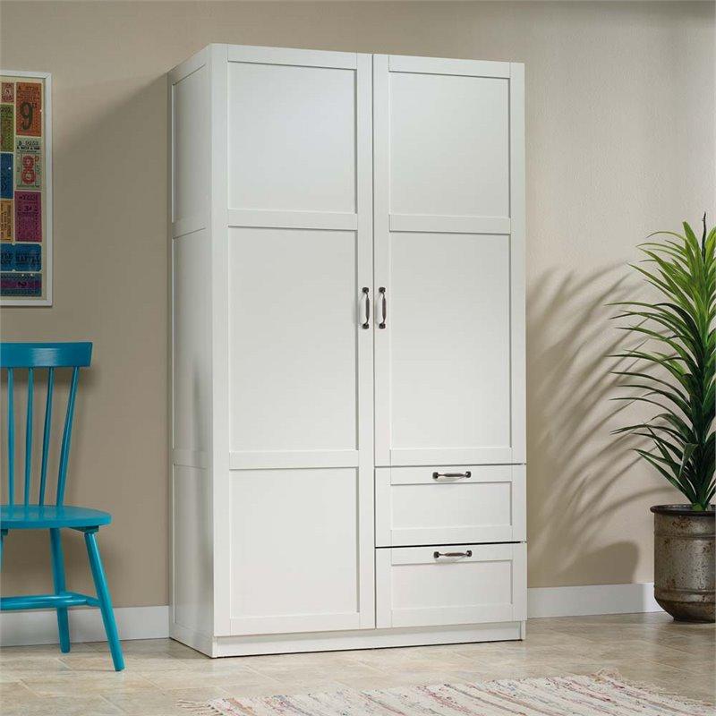 Sauder Select Wardrobe Armoire in White  420495
