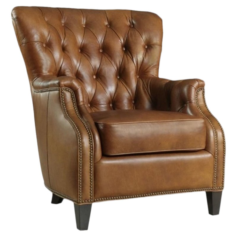Hooker Furniture Seven Seas Tufted Leather Club Chair in