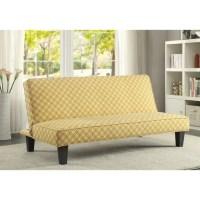Coaster Sleeper Sofa in Trellis in Yellow - 500166