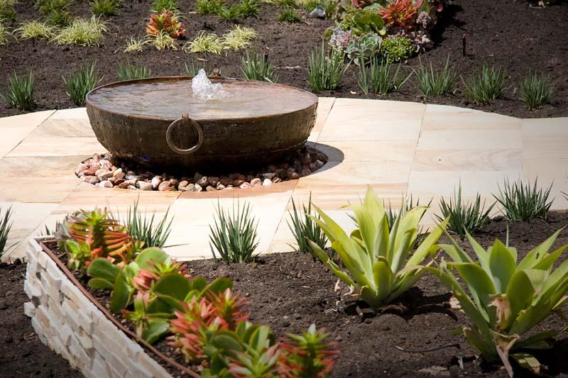 This Photo Shows An Example Of A Koi Pond That Was Built With One