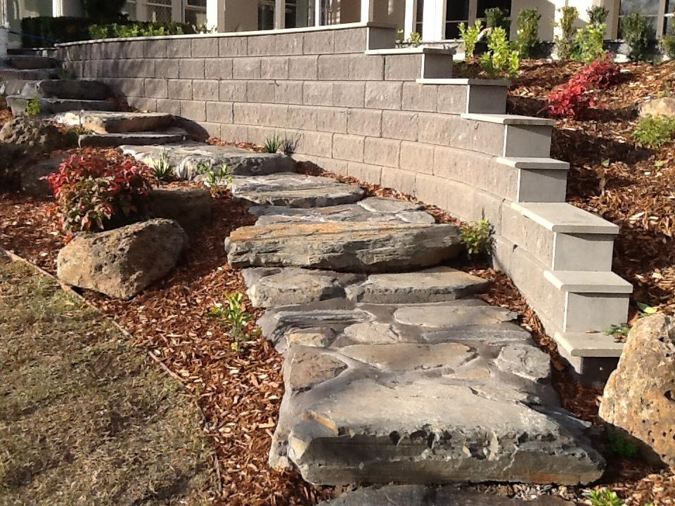 Building Garden Wall Concrete Blocks