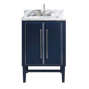 Avanity Navy Blue 24 Inch Bath Vanity Cabinet With Gold Trim Mason V24 Nbg Bellacor