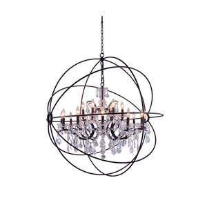 Elegant Lighting Geneva Polished Nickel Twenty Five Inch