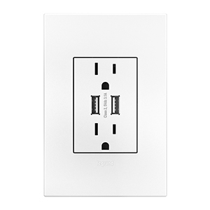 Legrand Adorne Magnesium Pop Out 1 Gang Outlet Arptr151gm2