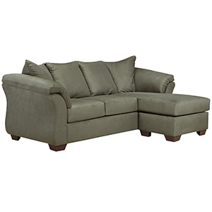 sage leather sofa small 2 seater shop green bellacor darcy chaise in