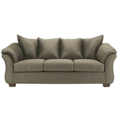 Sage Leather Sofa Bed Lounger Memory Foam Shop Green Bellacor Darcy In