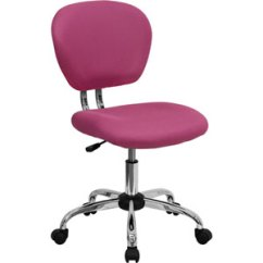 Pink Swivel Chair Painting Vinyl Chairs Shop Hot Bellacor Mid Back Mesh Task With Chrome Base