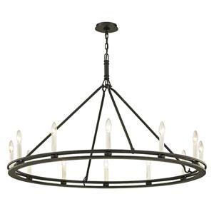 pearson black 20 light chandelier