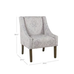 damask accent chair serta lift reviews shop purple chairs bellacor cooper grey arm