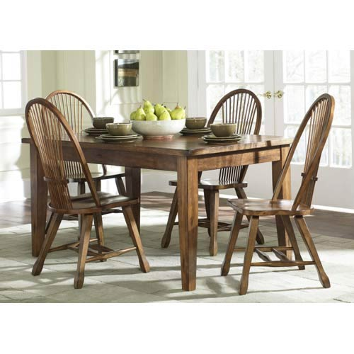 oak kitchen tables garbage can for solid table bellacor liberty furniture treasures top leg
