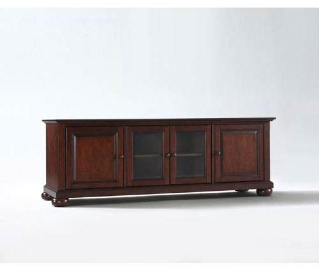 Crosley Furniture Alexandria 60 Inch Low Profile Tv Stand In Vintage Mahogany Finish