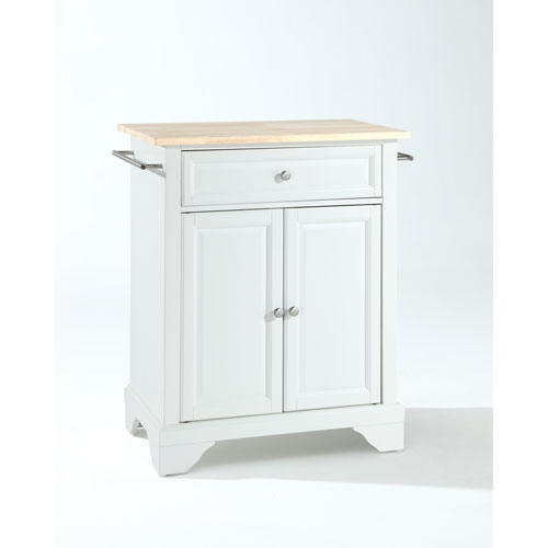 crosley kitchen island window treatment furniture lafayette natural wood top portable in white finish