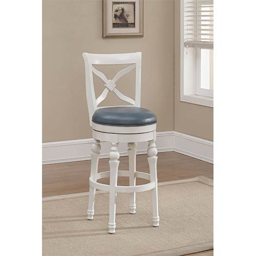counter height chair power chairside table american heritage billiards livingston antique white swivel stool