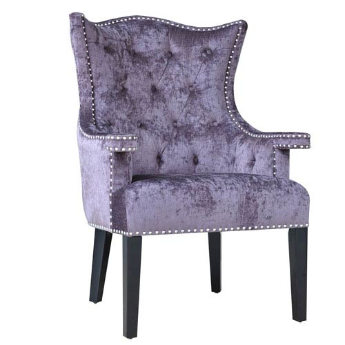 colorful accent chair heavy duty sliding transfer bench shower multi colored chairs free shipping bellacor fifth avenue upholstered eggplant velvet with nailhead trim