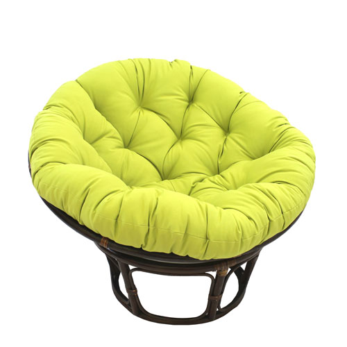 papa san chair back covers argos international caravan 42 inch rattan papasan with solid twill cushion mojito lime