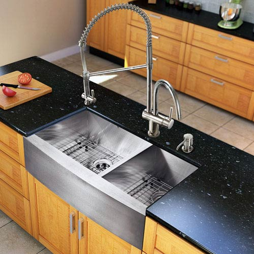 36 inch kitchen sink island mobile vigo all in one chisholm stainless steel double bowl bellacor item 840702 image