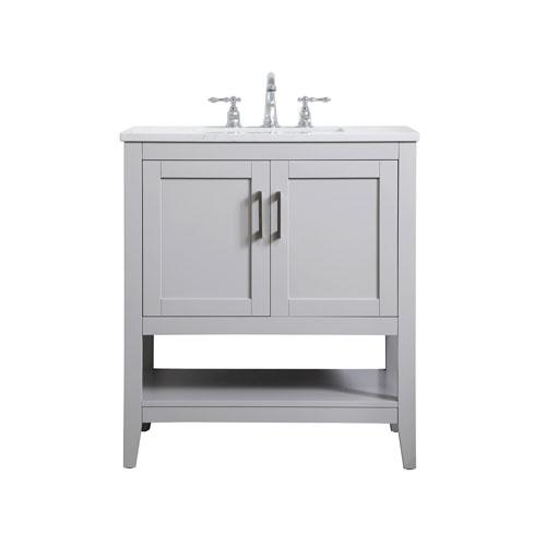 elegant lighting aubrey gray 30 inch vanity sink set vf16030gr bellacor