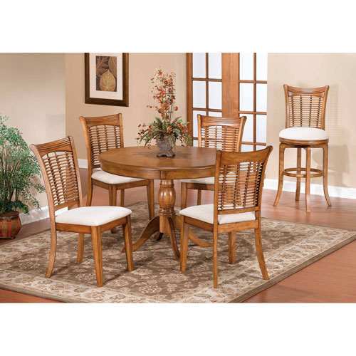 oak kitchen tables japanese knife round table set bellacor hillsdale furniture bayberry 44 inch with chairs