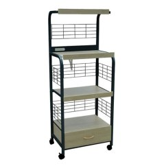Kitchen Microwave Cart Commercial Floor Coverings Carts Bellacor Home Source Industries Beech And Black Metal