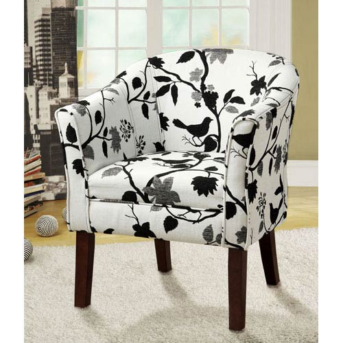 tub fabric accent chair patchwork vitra eames lounge and ottoman unique chairs bellacor coaster furniture birds flowers upholstered