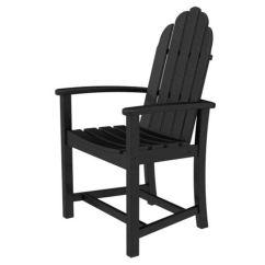 Adirondack Style Dining Chairs Portable Chair Umbrella Set Polywood Black Add200bl Bellacor