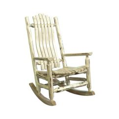 Old Fashioned Rocking Chairs Ikea Jennylund Chair Montana Woodworks Lacquered Log Rocker Adult Mwlrv Bellacor