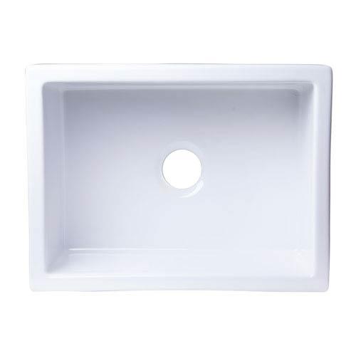 24 kitchen sink mini pendant lights for island alfi brand inch x 18 undermount white fireclay